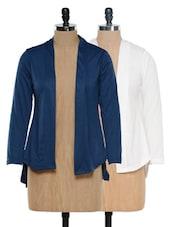 Blue And Chic White Shrug Set - @ 499