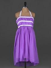 Halter Neck Backless GEORGETTE Dress - Xniva