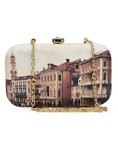 Italian Tower Printed Box Clutch - ARTychoke