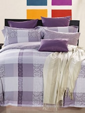 Purple Double Bedsheet With Pillow Cover - Bianca