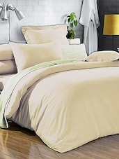 Ivory Double Bedsheet With Pillow Cover - Bianca