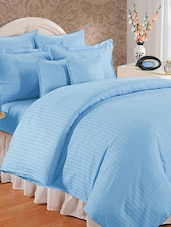 Sky Blue Double Bedsheet With Pillow Cover - Bianca