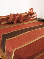 Rust Bed Cover Set Of Five - Bianca
