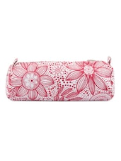 Red And White Floral Pencil Bag - Art Forte