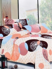 Multi-coloured Double Bedsheet With Two Pillow Cover -  Frábær - 937610