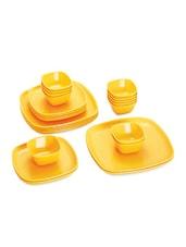 Yellow Food Grade Plastic   Dinner Set   Set Of  24 - Cello