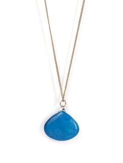Enamel Stone Pendant Necklace - Tribal Zone