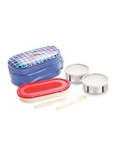 Blue  Food Grade Plastic Lunch Packs - By
