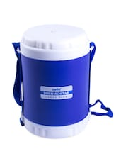 Blue Stainless Steel Container & Insulated Food Grade Plastic Body Lunch Carrier Set Of  4 Container - Cello