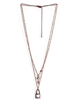 Lock And Key Pendant Necklace - Tribal Zone