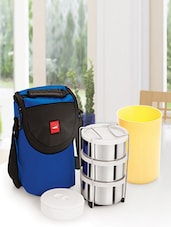 Blue Stainless Steel Container/Food Grade Plastic Container/ Thermal Bag Insulated NsuLunch Carrier - By