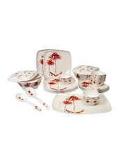 Orange Melamine Dinner Set  Set Of  32 - Cello