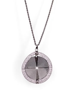 Net Circular Pendant Necklace - Tribal Zone