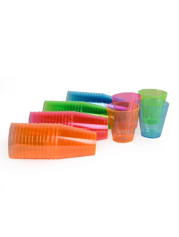 60 Ml Coloured Shot Glasses (Set Of 60) - True Vino