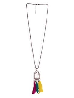 Ring Pendant Necklace With Feathers - Tribal Zone