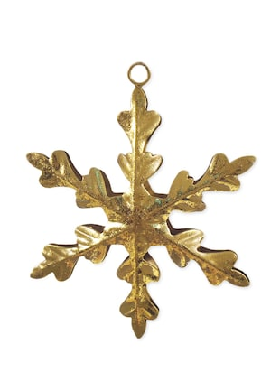 Gold Iron Hanging Snowflake -  online shopping for Wall Art