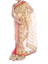 Red And Gold Paisley Saree - Suchi Fashion
