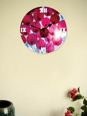 Pink And White  Wooden Wall Clock - Zeeshaan