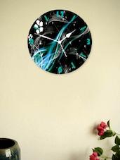 Black And Blue Wooden Wall Clock - Zeeshaan