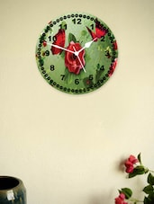 Vintage Butterfly And Flower Print Wall Clock - Zeeshaan