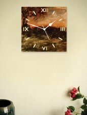 Man Under A Tree Print Wall Clock - Zeeshaan