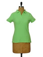 Light Green Collared T-shirt - CHERYMOYA