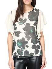Floral Embellished Day Top - CHERYMOYA