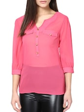 Rose Pink Sheer Top - CHERYMOYA
