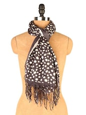 Monochrome Polka Dot Scarf - EIGHTEEN27