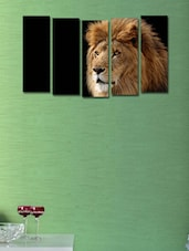 Printed Lion Wall Art Painting - 5 Pieces - 999store