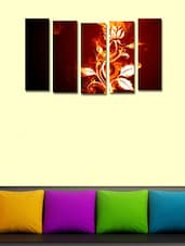 Printed Floral Wall Art Painting - 5 Pieces - 999store