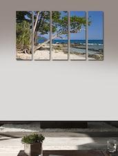 Beach Modern Wall Art Painting - 5 Pieces - 999store