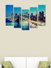 London City Modern Wall Art Painting - 5 Pieces - 999store