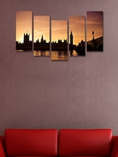 Modern City Wall Art Painting - 5 Pieces - 999store