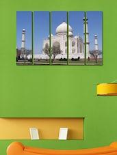 Printed Tajo Mahal Wall Art Painting - 5 Pieces - 999store
