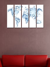 Clear Water Splash Wall Art Painting - 5 Pieces - 999store