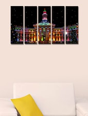 Colourful Church Wall Art Painting - 5 Pieces - 999store