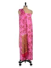 Pink Floral Print Cotton Un-stitched Suit - PehNava