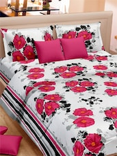 Floral Printed Double Bed Sheet With Pillow Covers - VORHANG