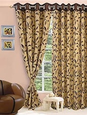 Dark Brown And Beige Jacquard Curtains - VORHANG