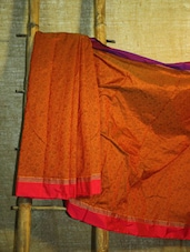 Orange Art Silk Banarasi Saree - BANARASI STYLE