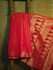 Gold Touch Red Banarasi Saree - BANARASI STYLE