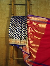 Regal Blue And Red Banarasi Saree - BANARASI STYLE