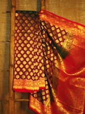 Maroon And Gold Banarasi Saree - BANARASI STYLE
