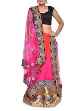 Embellished Pink Net Lehenga Set - Aggarwal Sarees