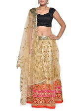 Embroidered Gold Luxe Lehenga Set - Aggarwal Sarees