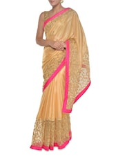 Chic Beige Art Silk Saree - Aggarwal Sarees
