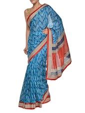 Printed Blue Georgette Saree - Aggarwal Sarees