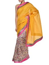 Floral Print Chic Georgette Saree - Aggarwal Sarees