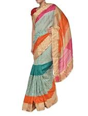 Multi Print Chic Georgette Saree - Aggarwal Sarees